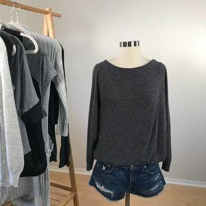 Melrose & Market • Dolman Sleeve Grey Sweater